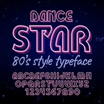 """Oryginalny krój pisma """"dance star""""."""