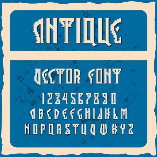 """Oryginalny krój pisma o nazwie """"antyczny"""""""