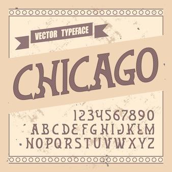 """Oryginalny krój pisma o nazwie """"chicago""""."""