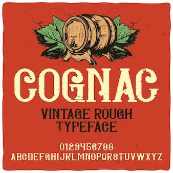 """Oryginalny krój pisma o nazwie """"cognac""""."""