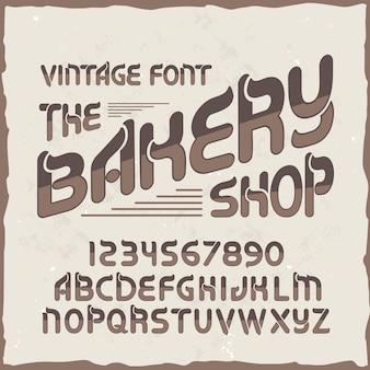 """Oryginalny krój pisma o nazwie """"piekarnia""""."""