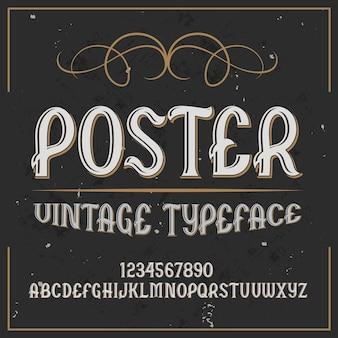 """Oryginalny krój pisma o nazwie """"plakat""""."""
