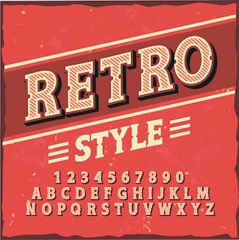 """Oryginalny krój pisma o nazwie """"retro style""""."""