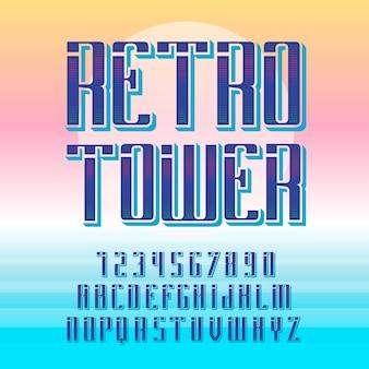 """Oryginalny krój pisma o nazwie """"retro tower""""."""