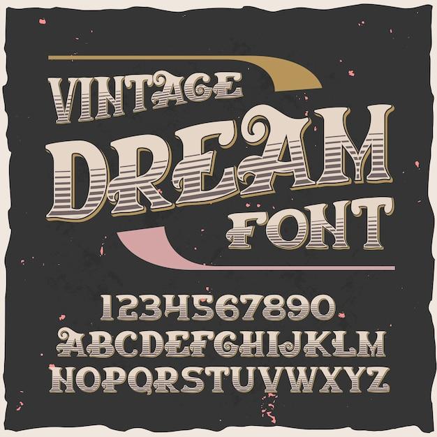 """Oryginalny krój pisma o nazwie """"sen""""."""