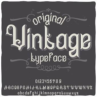 """Oryginalny krój pisma o nazwie """"vintage"""""""