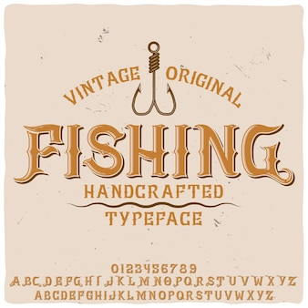 """Oryginalny krój pisma o nazwie """"wędkarstwo"""""""