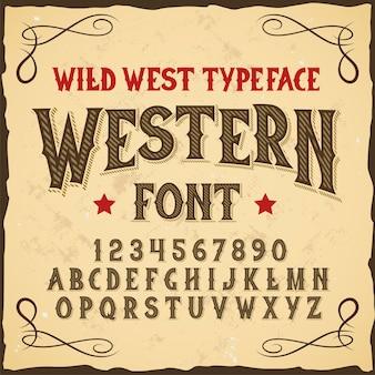 """Oryginalny krój pisma o nazwie """"western""""."""