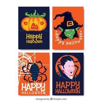 Oryginalny pakiet płaskich kart halloween