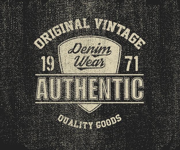 Oryginalny, vintage design denim