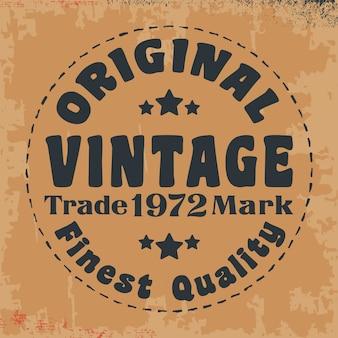 Oryginalny vintage pieczęć