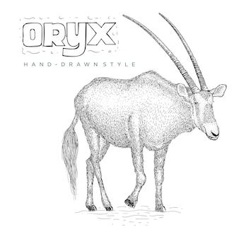 Oryx vhand ilustracja zwierząt