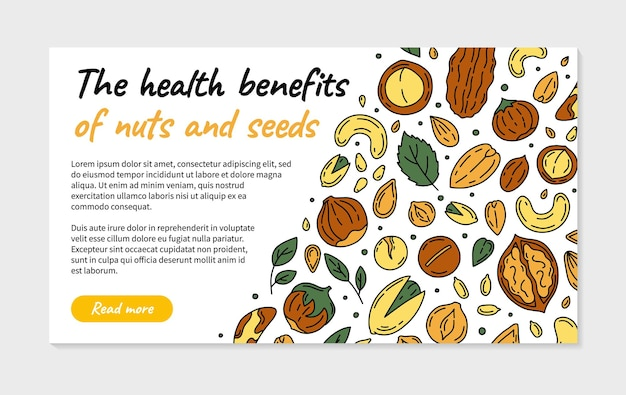 Orzechy i nasiona piękna ilustracja