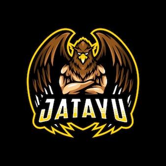 Orzeł człowiek maskotka logo esport gamin