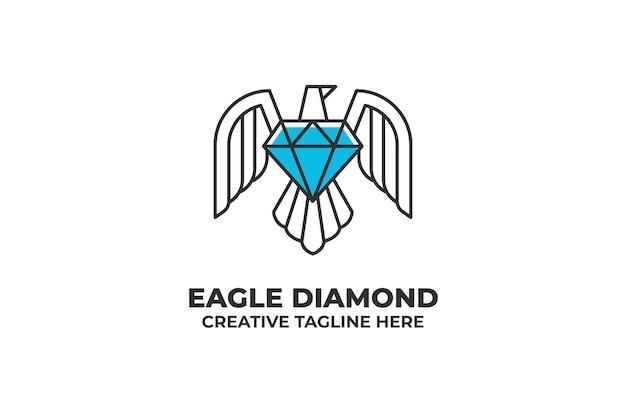 Orzeł diament biżuteria biznes logo