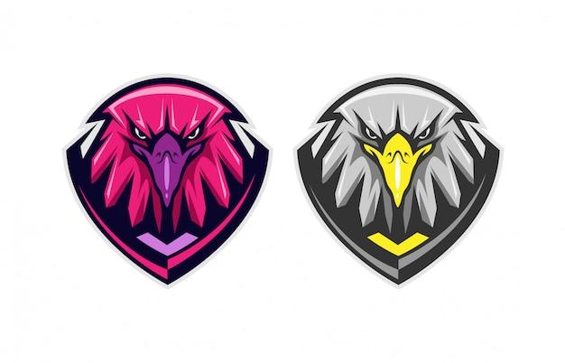 Orzeł głowa godło odznaka logo ilustracja koncepcja