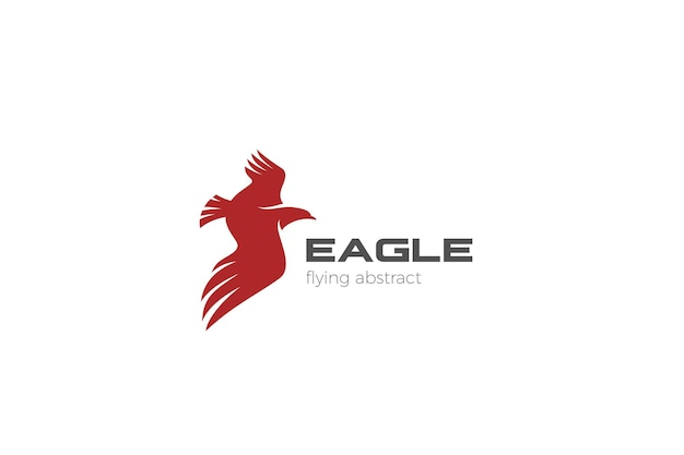 Orzeł latający logo abstrakcyjny wzór. logotyp skrzydeł sokoła jastrzębia