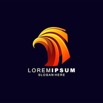 Orzeł logo projekt streszczenie