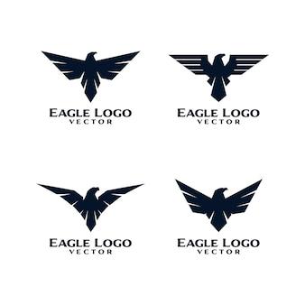 Orzeł ptak logo szablon wektor