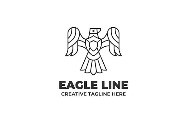 Orzeł ptak monoline logo
