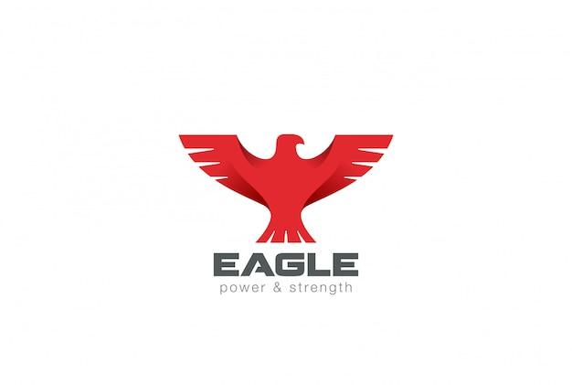 Orzeł ptak streszczenie logo ikona.