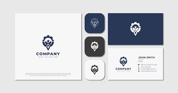 Orzeł z logo sprzętu i wizytówką