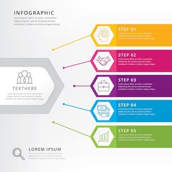 Oś czasu infografiki projekt wektor