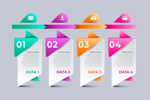Oś czasu infographic firmy