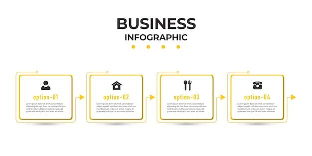 Oś czasu szablonu infografiki