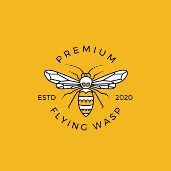 Osa grzebienia logo emblemat odznaki ilustracyjne