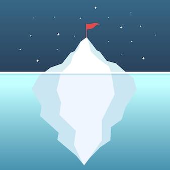 Osiągnięcie celu koncepcja ambicji lodowej