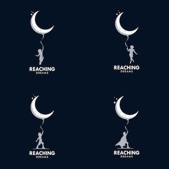 Osiągnięcie szablonu projektu logo marzenia