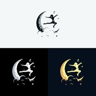 Osiągnij logo dreams z symbolem księżyca