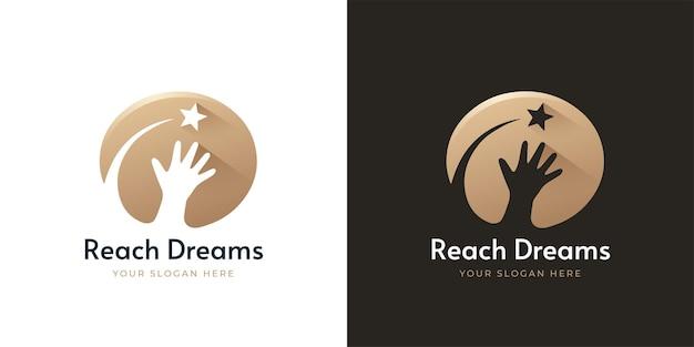 Osiągnij projekt logo marzeń gwiazd
