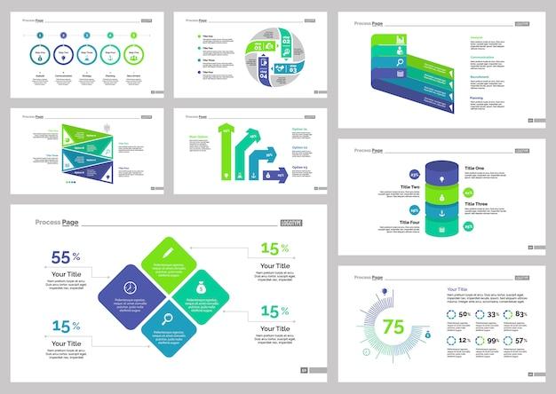 Osiem szablonów slajdów produkcyjnych