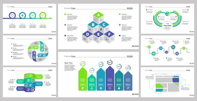 Osiem zestawów szablonów planowania
