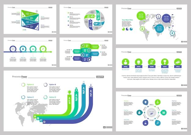 Osiem zestawów szablonów slajdów logistycznych