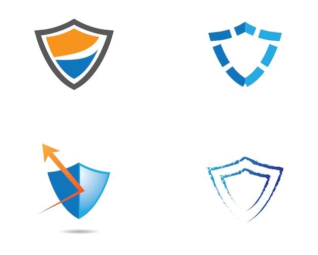 Osłona loga szablonu wektorowej ikony ilustracyjny projekt