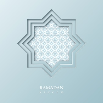 Ośmiokąt ramadan kareem z ozdobnym wzorem