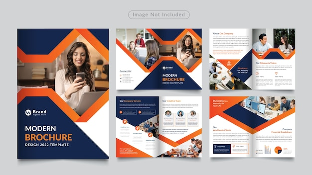 Ośmiostronicowa broszura korporacyjna