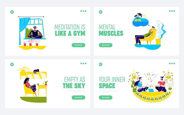Osób medytujących w domu kursy online jogi i medytacji