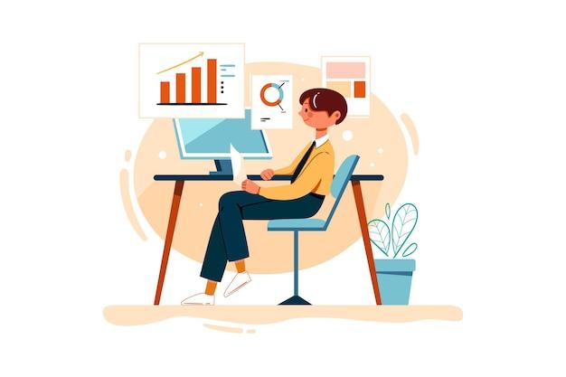 Osoba biznesowa pracująca nad raportem marketingowym