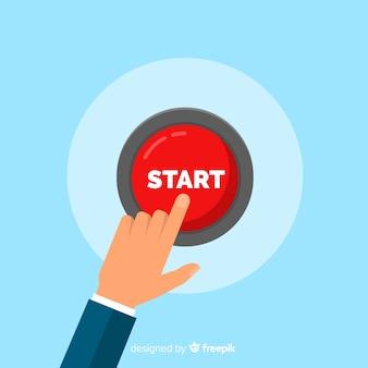 Osoba naciskająca przycisk start