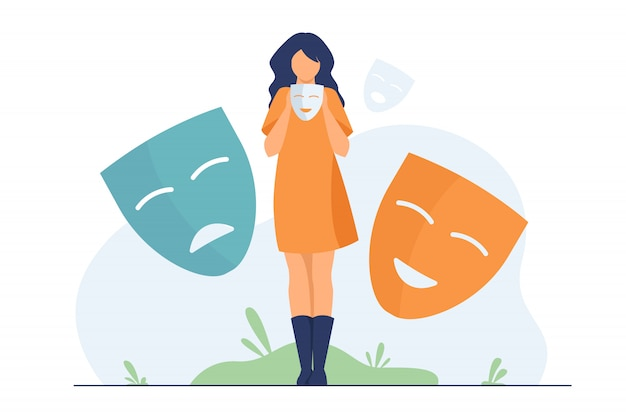 Osoba obejmująca emocje, poszukująca tożsamości