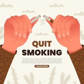 Osoba rzuca palenie ilustracja