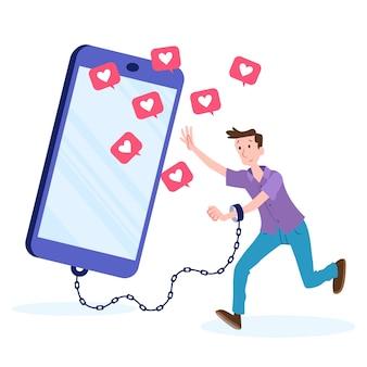 Osoba uzależniona od mediów społecznościowych