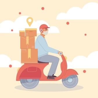 Osoba wykonująca czynności związane z dostawą