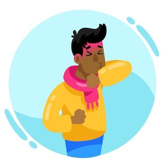 Osoba z kaszlem na zimno