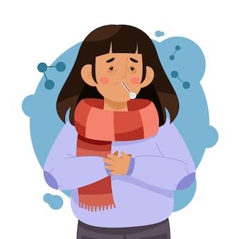 Osoba z przeziębieniem