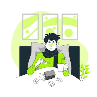 Osoba z zimną ilustracją pojęcia